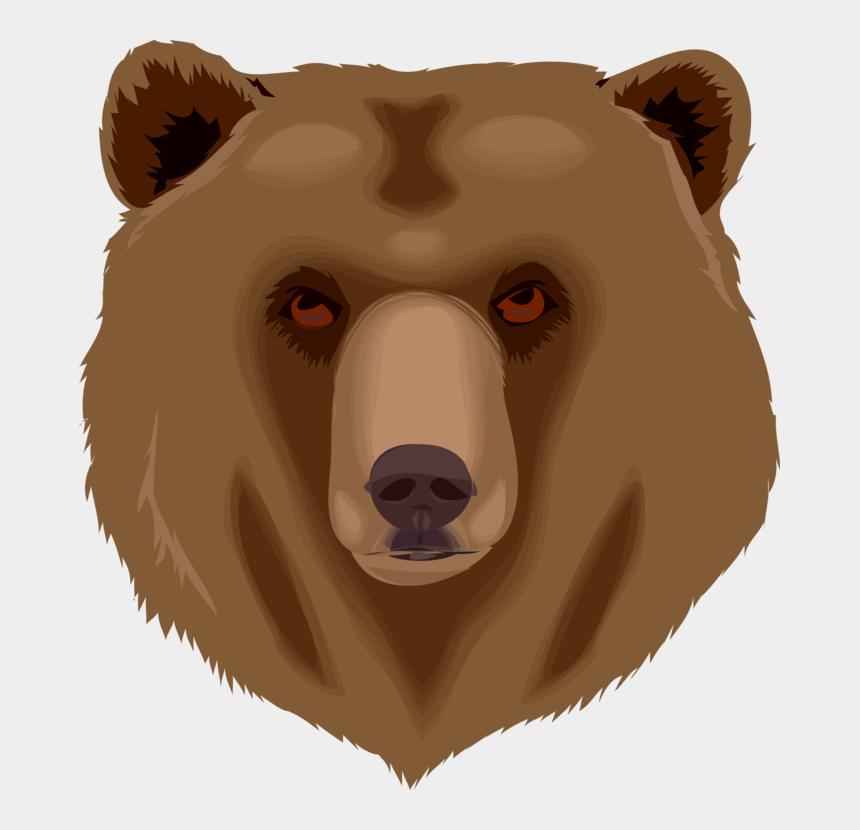 tired clipart, Cartoons - Tired Brown Bear Head Svg Clip Arts 558 X 597 Px - Bear Face Clip Art
