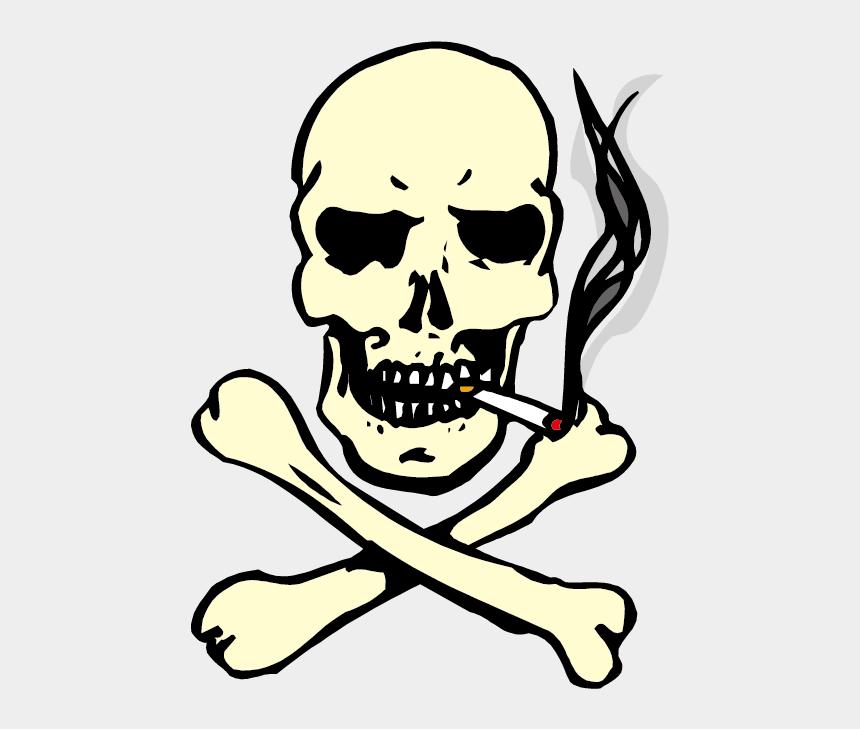 cigarette clipart, Cartoons - Cigarette Clipart Smoking - Skull And Crossbones Smoking