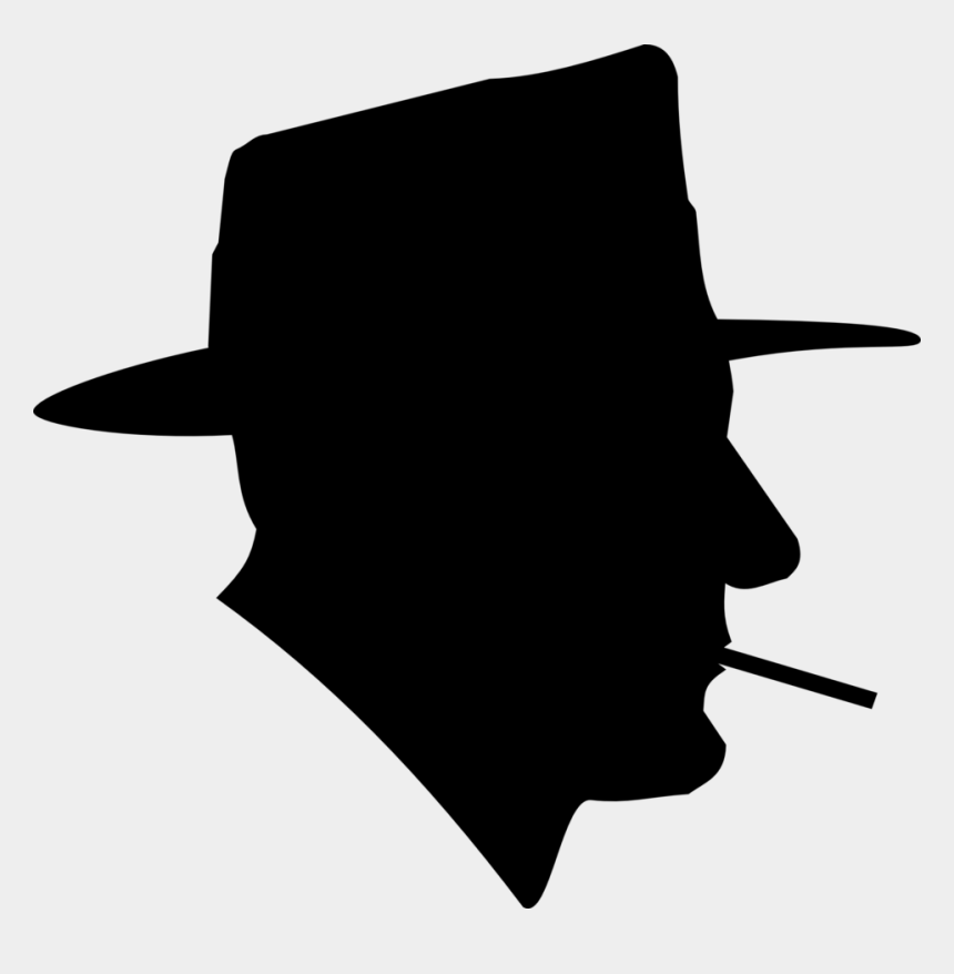 person thinking clipart, Cartoons - Download Clipart - Silhouette Of Man Smoking