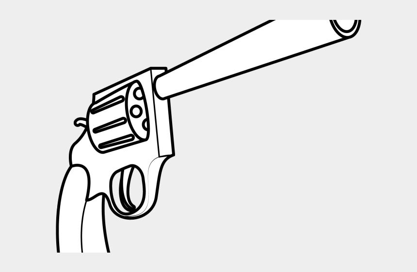 shotgun clipart, Cartoons - Drawn Shotgun Revolver - Easy Gun Drawing