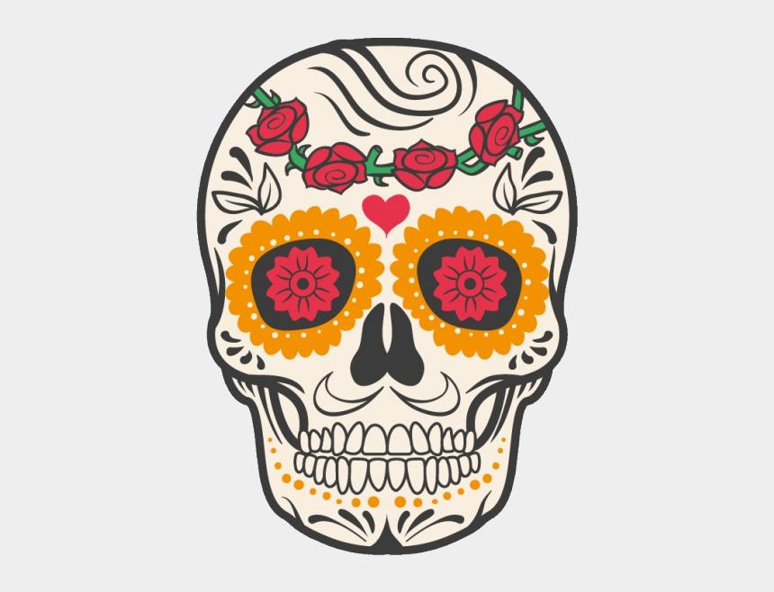 mexico clipart, Cartoons - Cuisine Mexican Skull Mexico Calavera Dead Human Clipart - Tete De Mort Au Mexique
