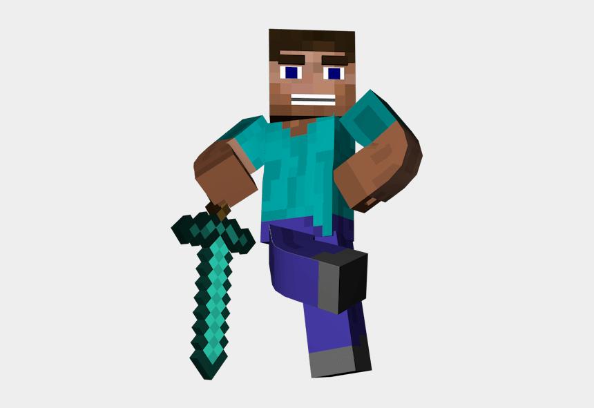 dirt clipart, Cartoons - Man Standing Sword Minecraft Transparent Png - Minecraft Transparent
