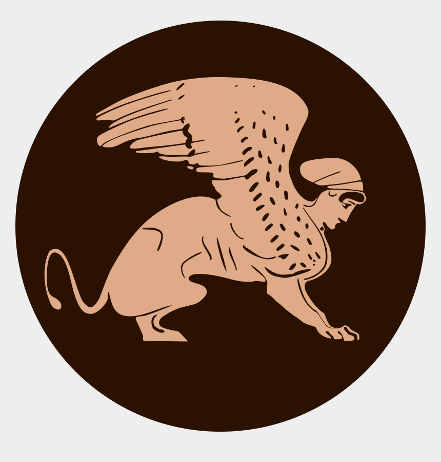 museum clipart, Cartoons - Greek Sphinx By Waielbi From A Plate At The Rhodes - Sphinx Mythology Clipart