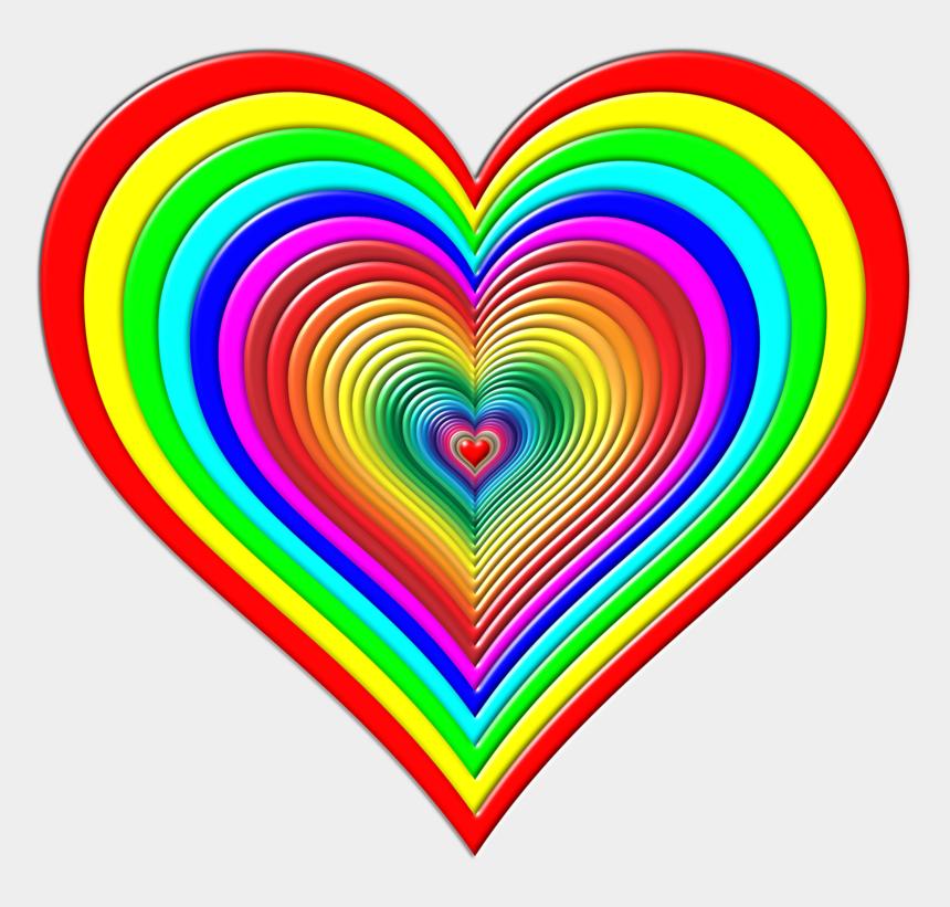 colorful heart clipart, Cartoons - Color Heart Rainbow Green - Rainbow In A Heart