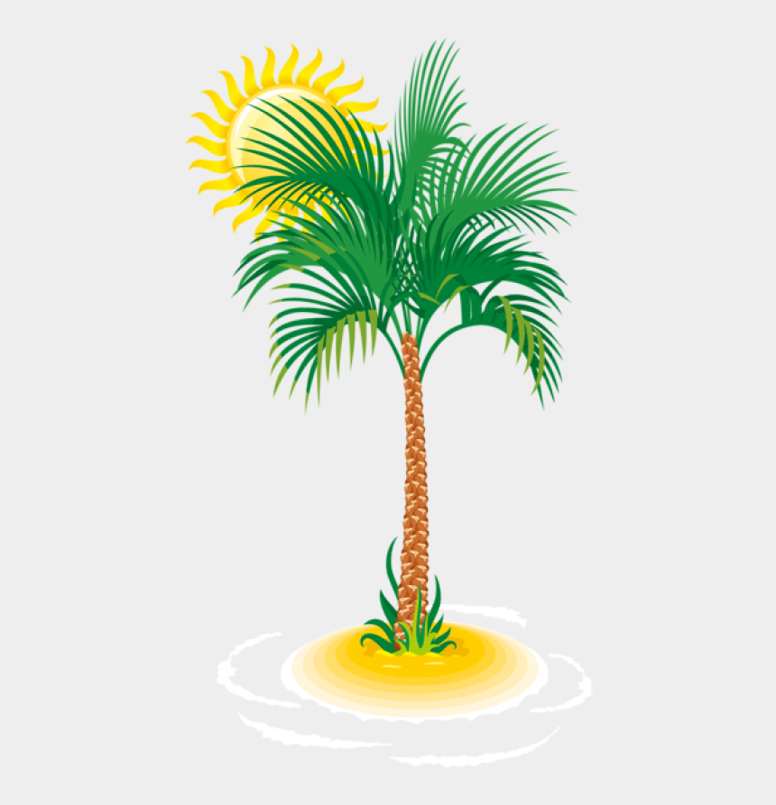 christmas palm tree clipart, Cartoons - Palm Tree Clipart Png - Palm Tree Sun Transparent Png