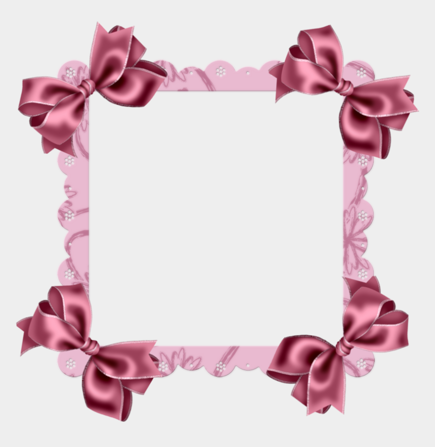 bow border clipart, Cartoons - Discover Ideas About Scrapbook Frames - Bow Frame Transparent