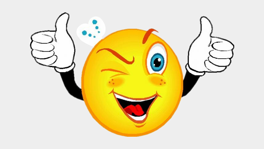 thumbs up emoji clipart, Cartoons - #emoji #smile #happy #wink #thumbsup - Smiley Face With Thumbs Up