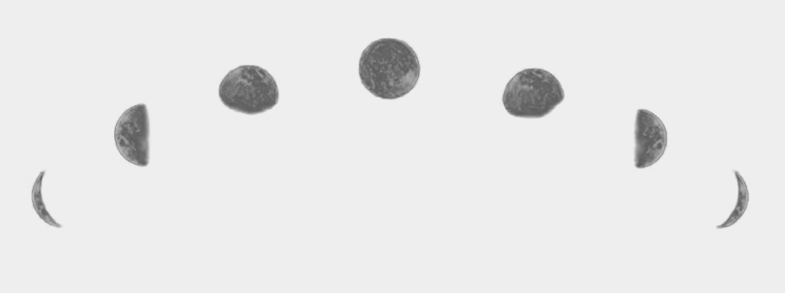 moon phases clipart black and white, Cartoons - Go To Image - Фазы Луны В Png