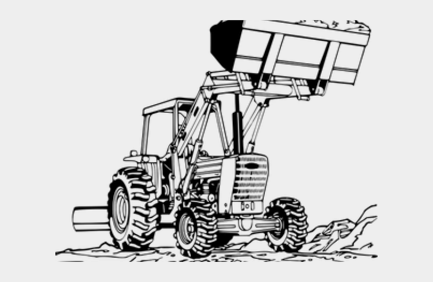 clipart of tractors, Cartoons - Tractor Clipart Line Art - John Deere Cartoon Art