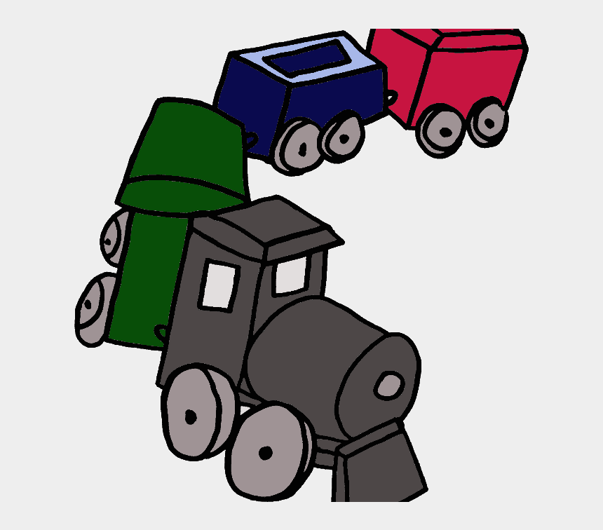 line caboose clipart, Cartoons - Little Red Caboose Position Words