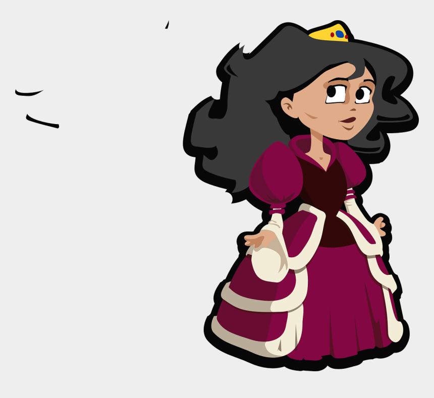 princess costume clipart, Cartoons - Queen Princess Pink Cute Little Pretty Costume - Queen Clipart Transparent Background