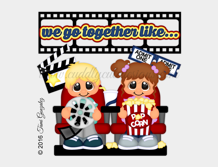 go to the movies clipart, Cartoons - We Go Together Likemovies And Popcorn - We Go Together Like Movies And Popcorn
