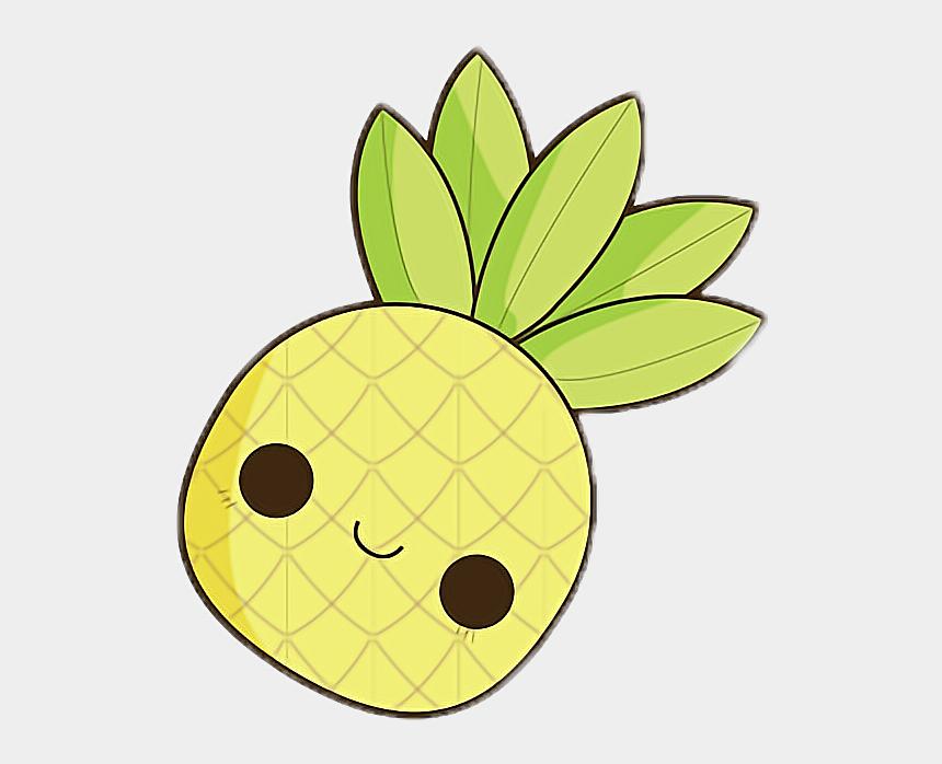 cute pineapple clipart, Cartoons - #kawaii #cute #pineapple #yellow #chibi #small #little - Pineapple Cute Easy Drawings
