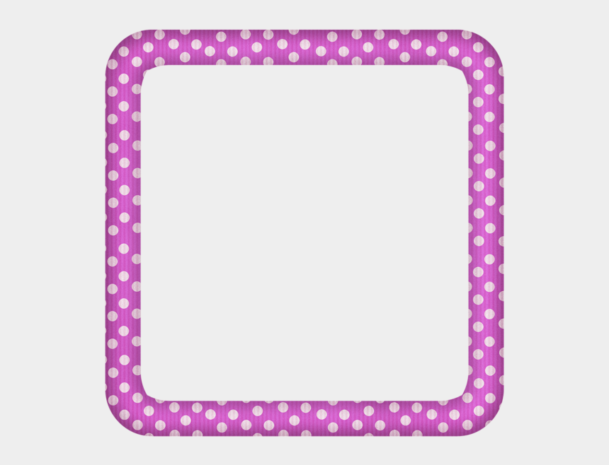 polka dot border clipart, Cartoons - Pink Large Transparent Dotted Photo Frame - Portable Network Graphics