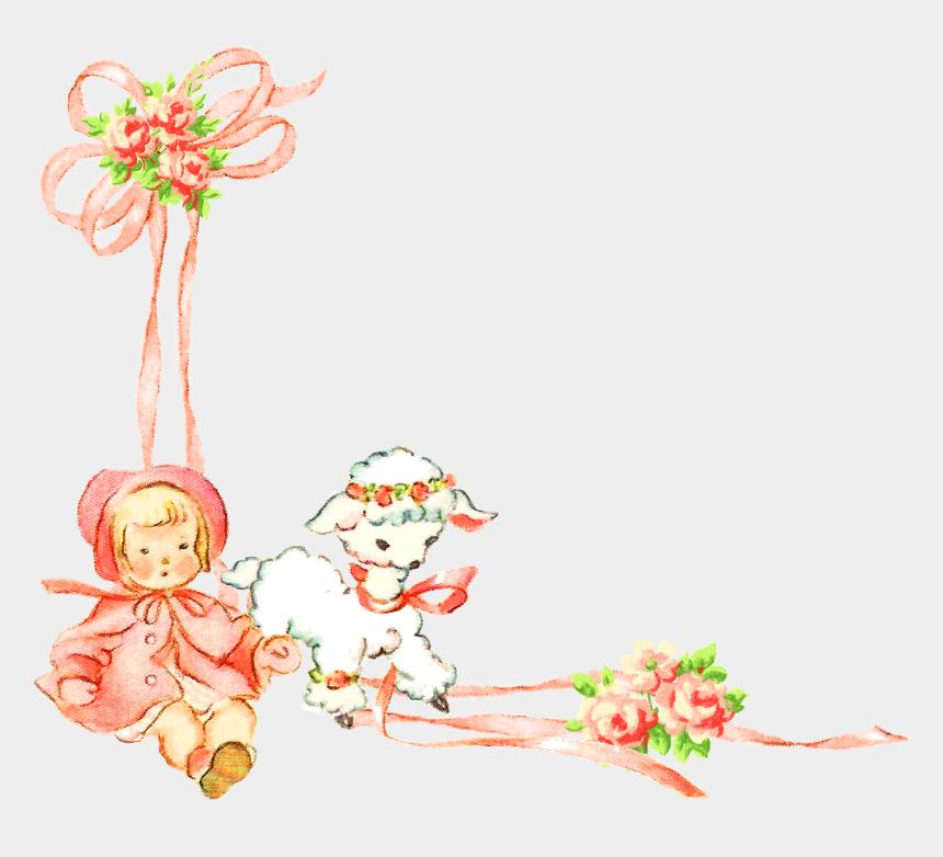 clipart corner designs, Cartoons - The Second Digital Corner Clip Art Is A Lovely Flower - Baby Girl Design Png