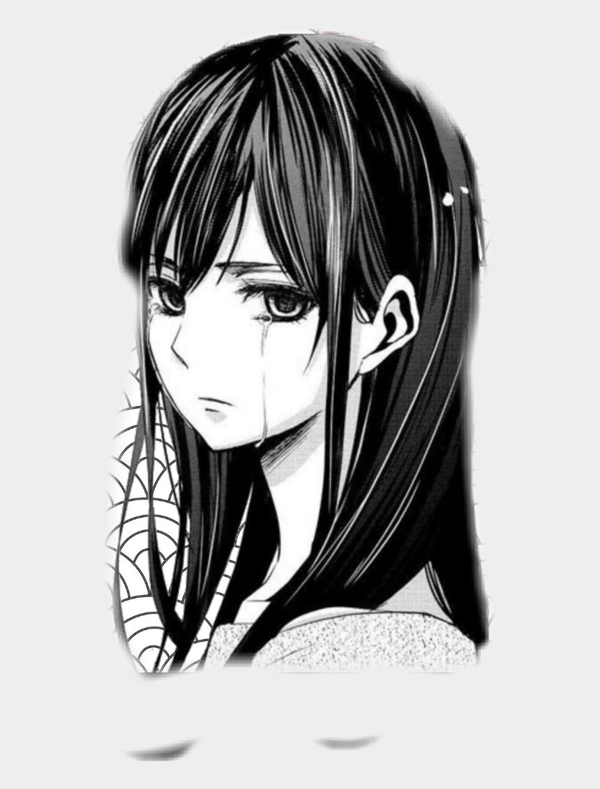 Tears tränen anime girl sad gacha black white sad
