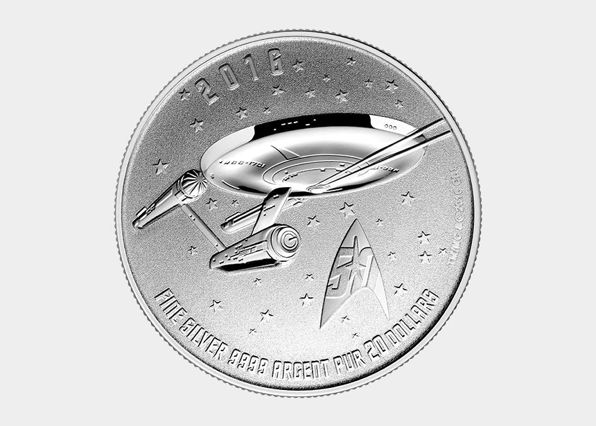 star trek enterprise clipart, Cartoons - $20 For $20 - 2016 Star Trek Coin