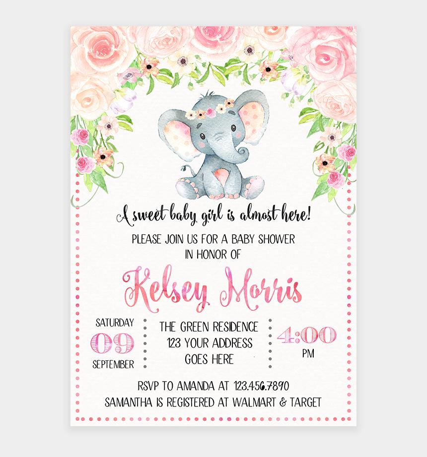 baby shower elephant clipart boy, Cartoons - Blush Pink Floral Elephant Baby Shower Invitation Printable - Floral Elephant Baby Shower Invitations