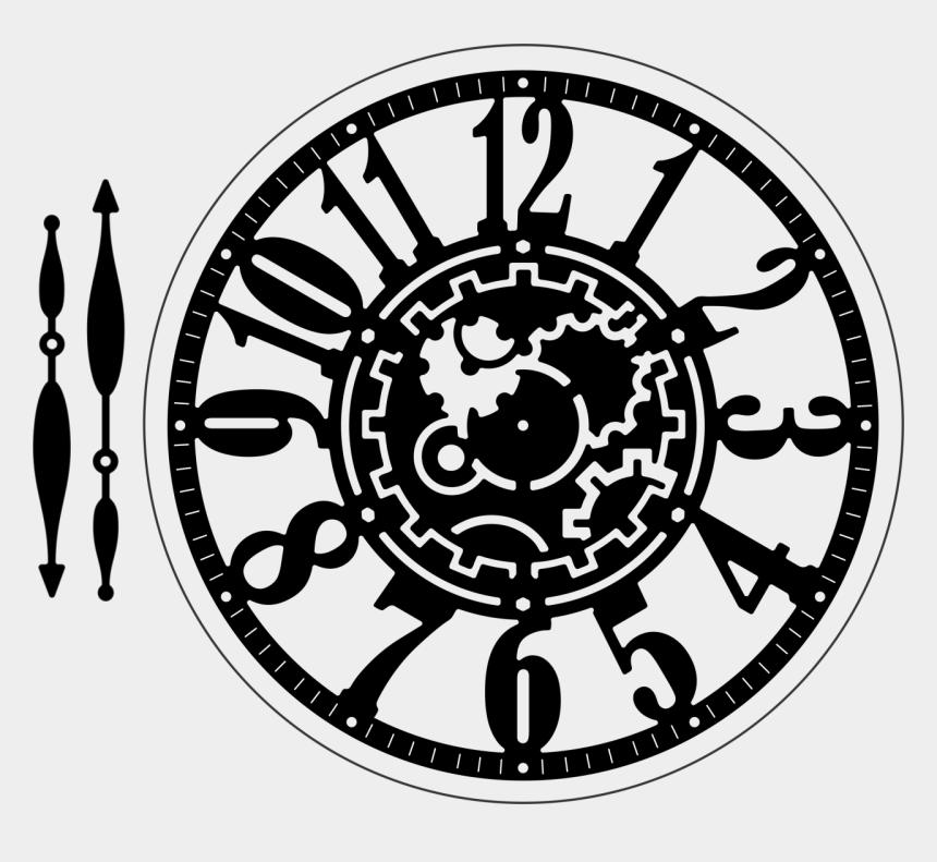 steampunk clock clipart, Cartoons - Serendipity Stamps Clock W/ Mat Die Accent Decor, Lunette - Laser Cut Wooden Clock