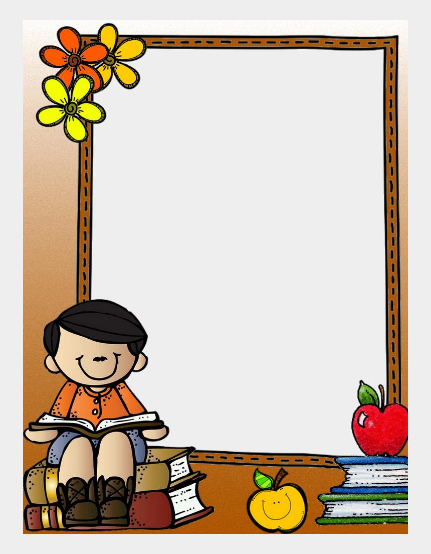 border clipart for school, Cartoons - School Clip Frame Design - Cute Clipart School Border