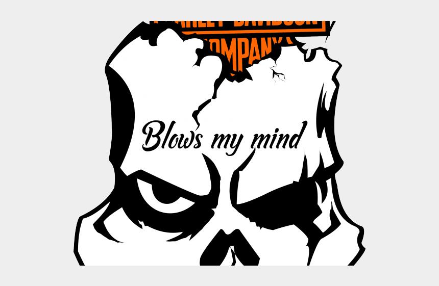 graphic relating to Printable Harley Davidson Logo named Harley Davidson Clipart Stencil - Skull Harley Davidson
