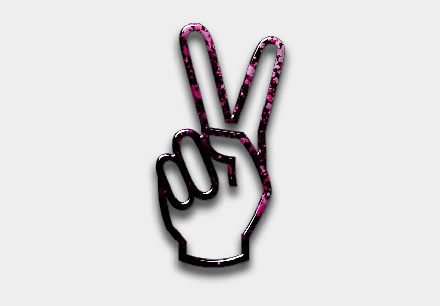 number one finger clipart, Cartoons - Hand Sign Blossom Festival Icon People Things Ⓒ - Transparent Peace Sign Hand