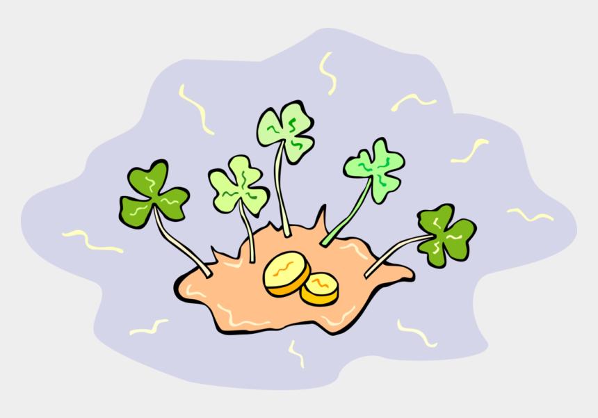gold shamrock clipart, Cartoons - Vector Illustration Of St Patrick's Day Four-leaf Clover