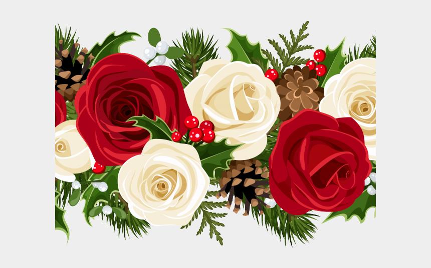 rose garland clipart, Cartoons - Clipart Wallpaper Blink - Red Flower Border Png