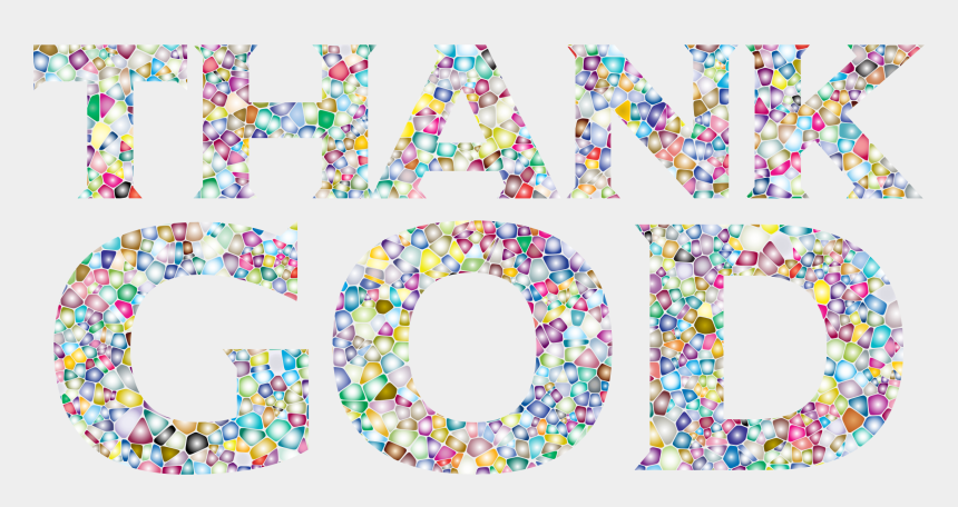 thanks be to god clipart, Cartoons - God Typography Art Tile - Thank God Transparent Background