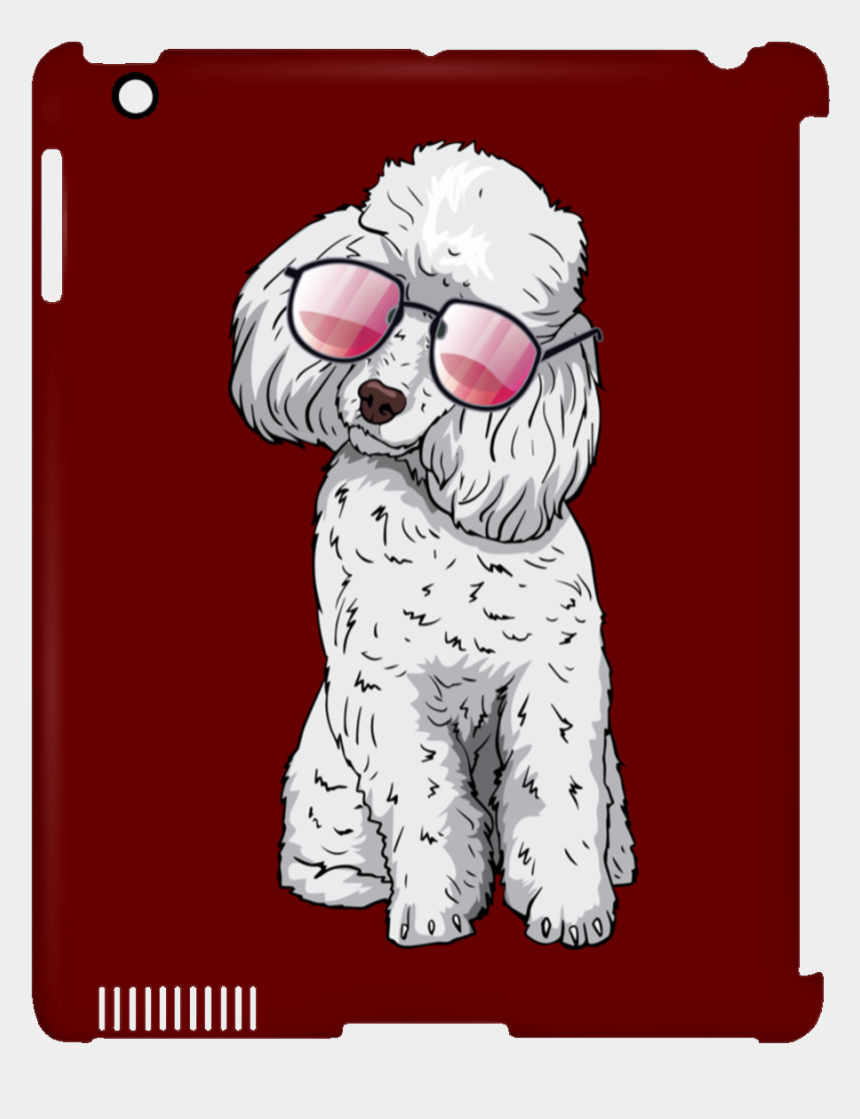 toy poodle clipart, Cartoons - Poodle Dog Sunglasses Funny Clip Case For Ipad, Gifts - Yes No Video Game