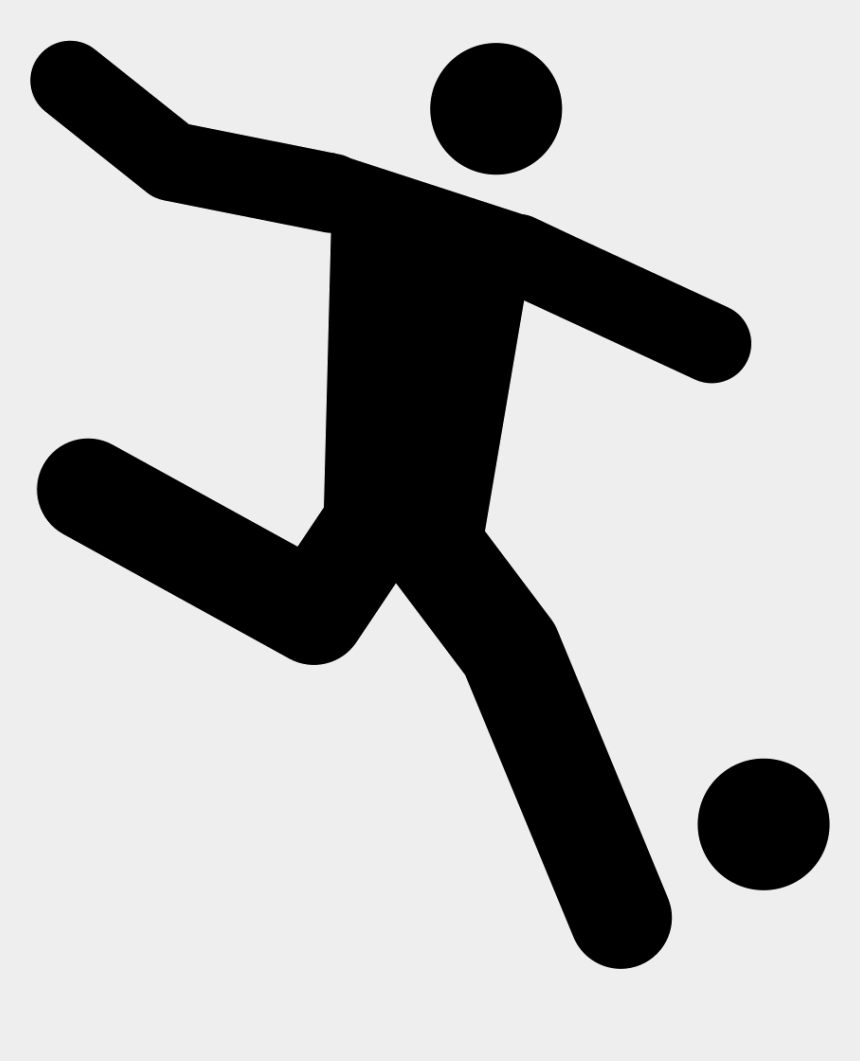 soccer player running clipart, Cartoons - Football Player Running Behind The Ball Comments - Playing Football Icon
