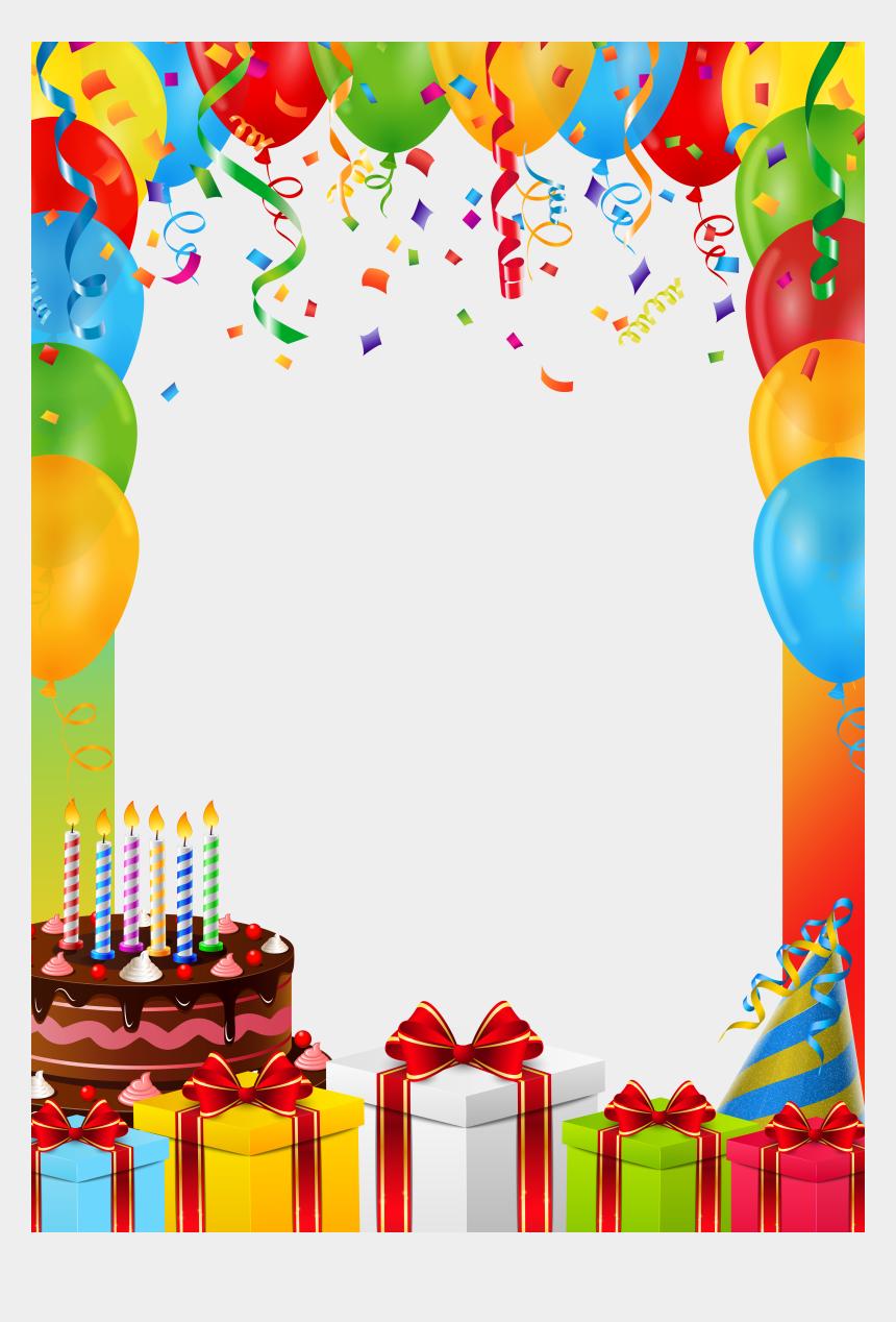 birthday border clipart transparent, Cartoons - Birthday Frame Png - Birthday Background Png