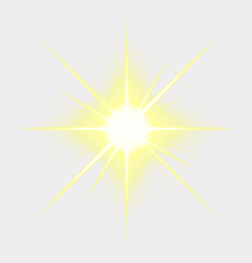 estrella clipart, Cartoons - Light Flare Clipart Glowing Star - White Single Sparkle Png