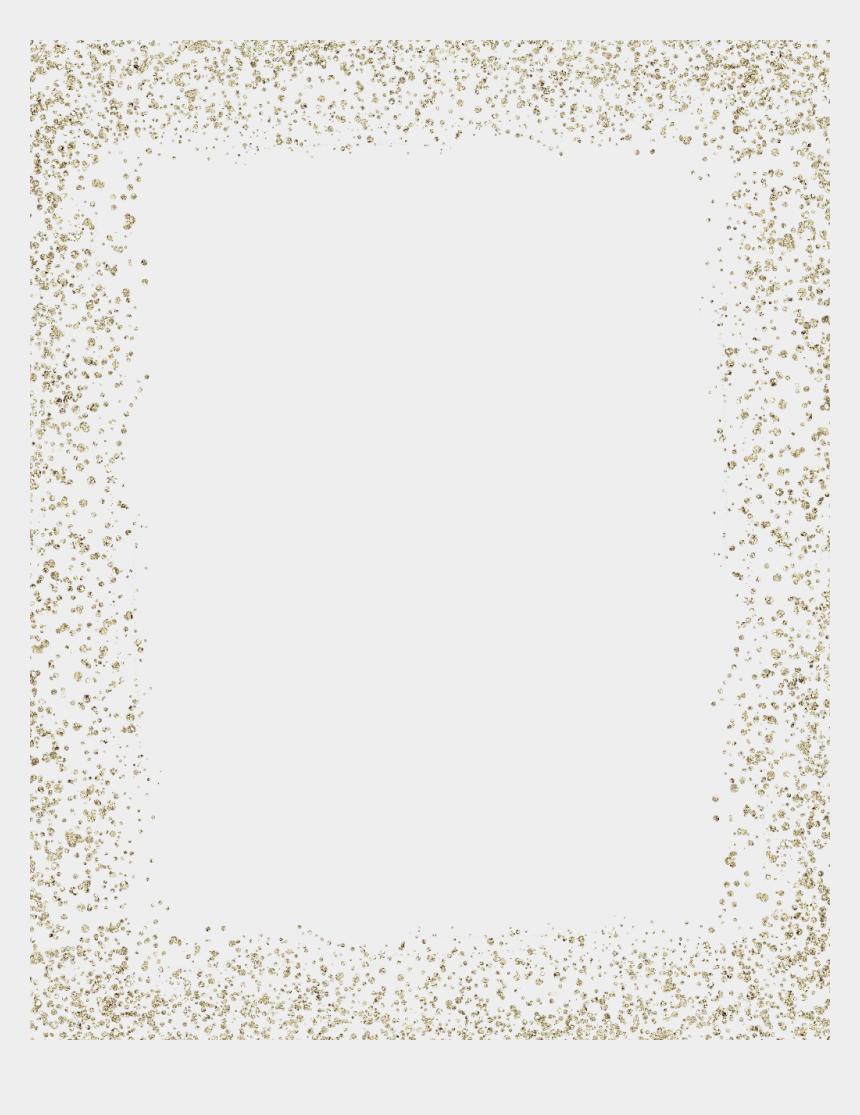 gold glitter border clipart, Cartoons - #ftestickers #frame #frames #border #borders #overlay - Transparent Background Glitter Frame