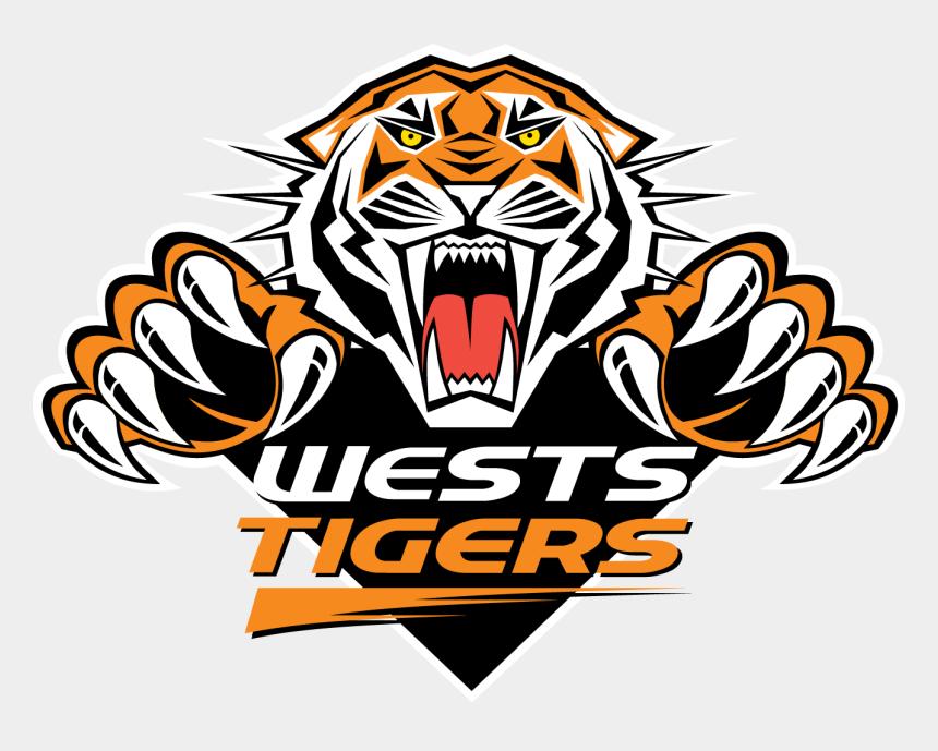 roaring tiger clipart, Cartoons - Transparent Tiger West - West Tigers Logo