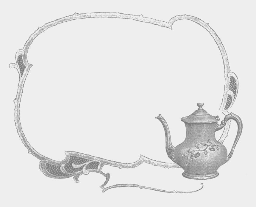 vintage labels clipart, Cartoons - Digital Teapot Label Design Downloads - Teapot Frames Clipart