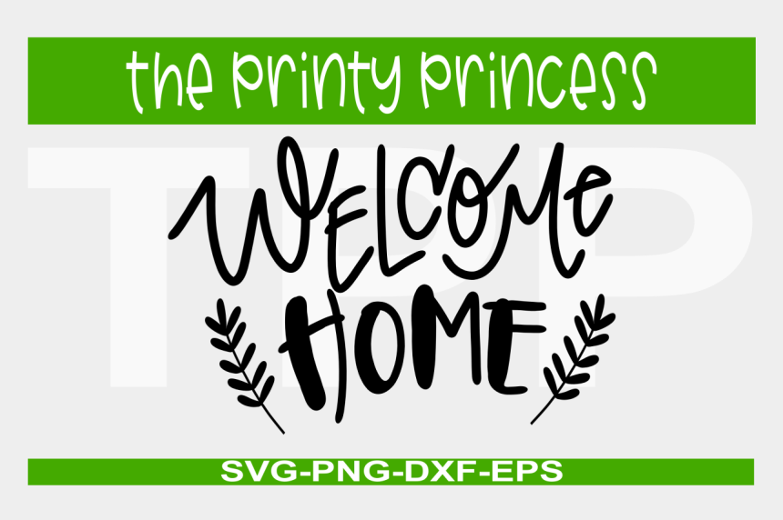 home sweet home clipart black and white, Cartoons - Welcome Home Png - Calligraphy