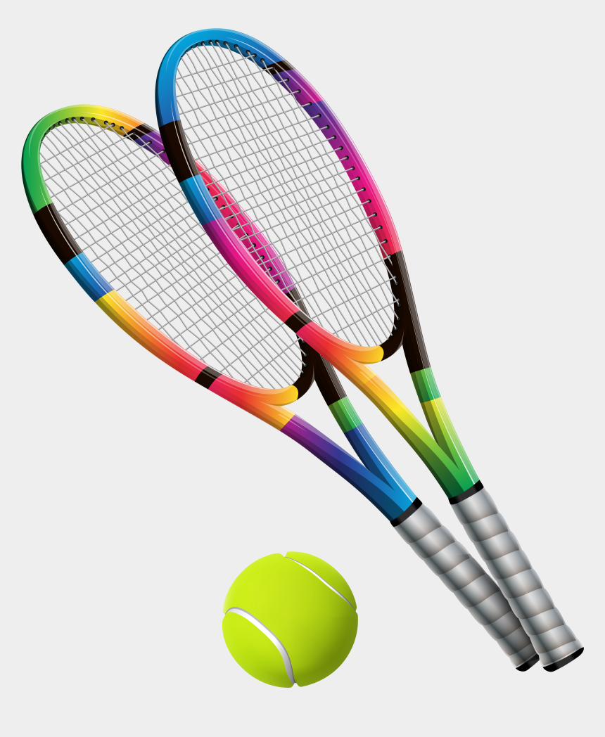 sport equipment clipart, Cartoons - Clipart Of Equipment, Sport And Mixed - Tennis Ball And Racket Png