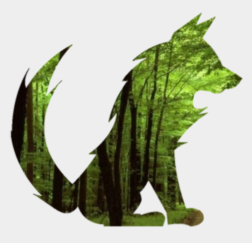 forest clipart png, Cartoons - Vector Clipart Forest - Green Fox Png