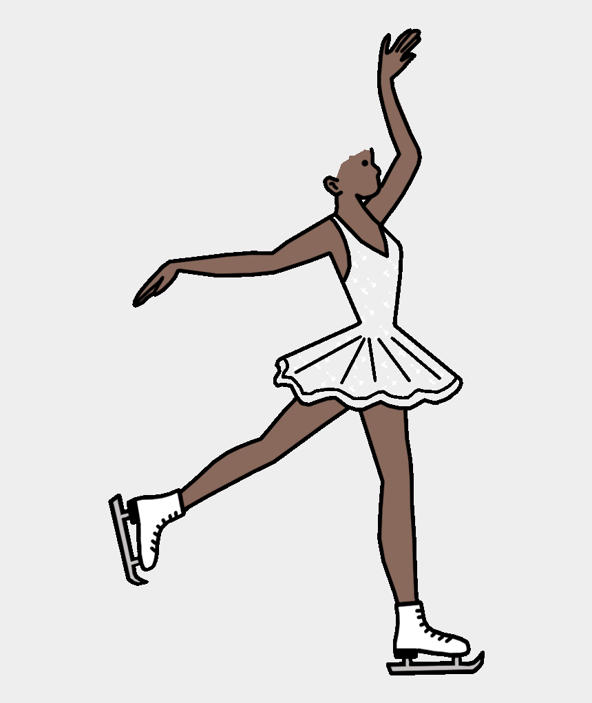 girl ice skating clipart, Cartoons - Ice Skating Fill In The Blank Thank You Notes For Girls - Figure Skating Spins