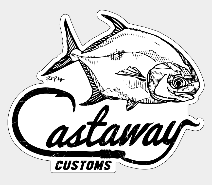 fishing lure clipart black and white, Cartoons - Tarpon Vector Permit Fish - Permit Fish Logo