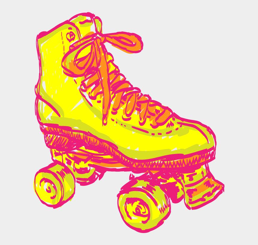 roller skating clipart black and white, Cartoons - Hand Drawn Roller Skate Illustration Drawn For Dolphinholme