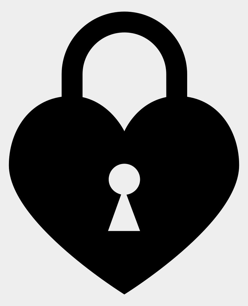 key hole clipart, Cartoons - Lock Clipart Locked Up - Heart With Lock Png