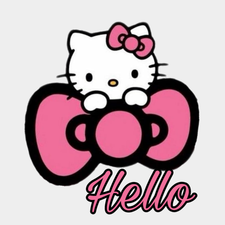 hello kitty bow clipart, Cartoons - #hellokitty #hellokittysticker #hellokittyaddict #hello - Hello Kitty Pink Bow