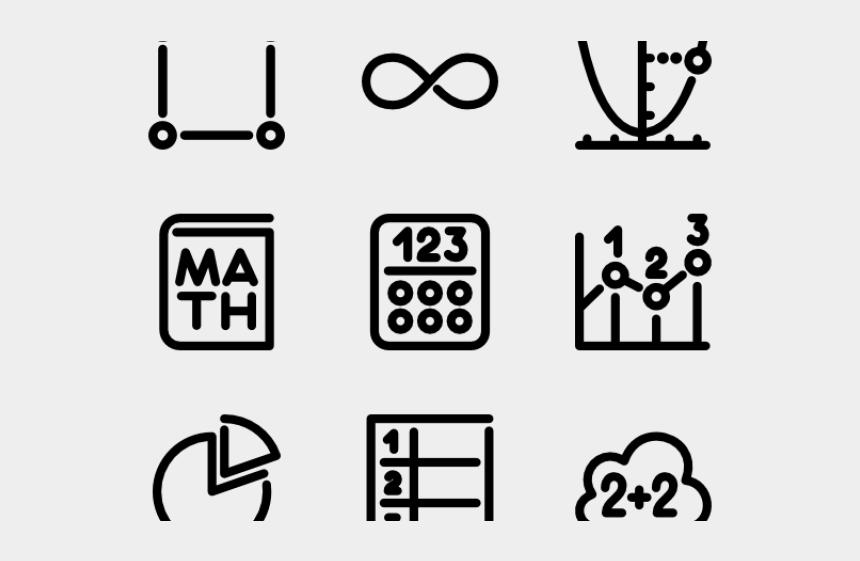 math symbols clipart black and white, Cartoons - Vector Swirl Clipart Math