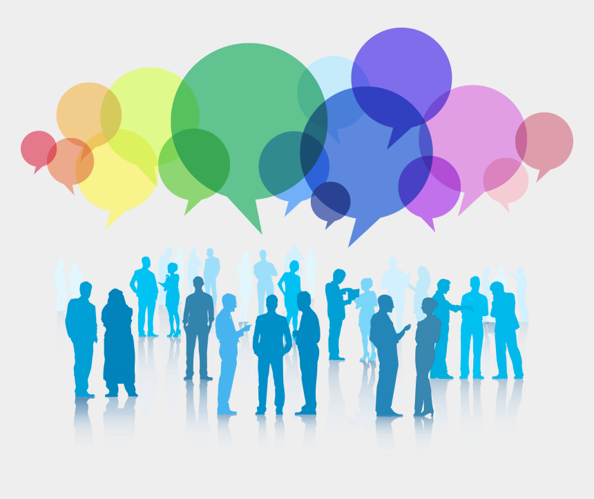 social people clipart, Cartoons - Communication Clipart Collaboration - Business Networking