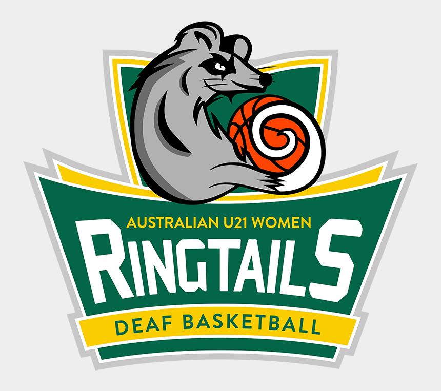 girls playing basketball clipart, Cartoons - Ringtails Logo Forsite - Illustration