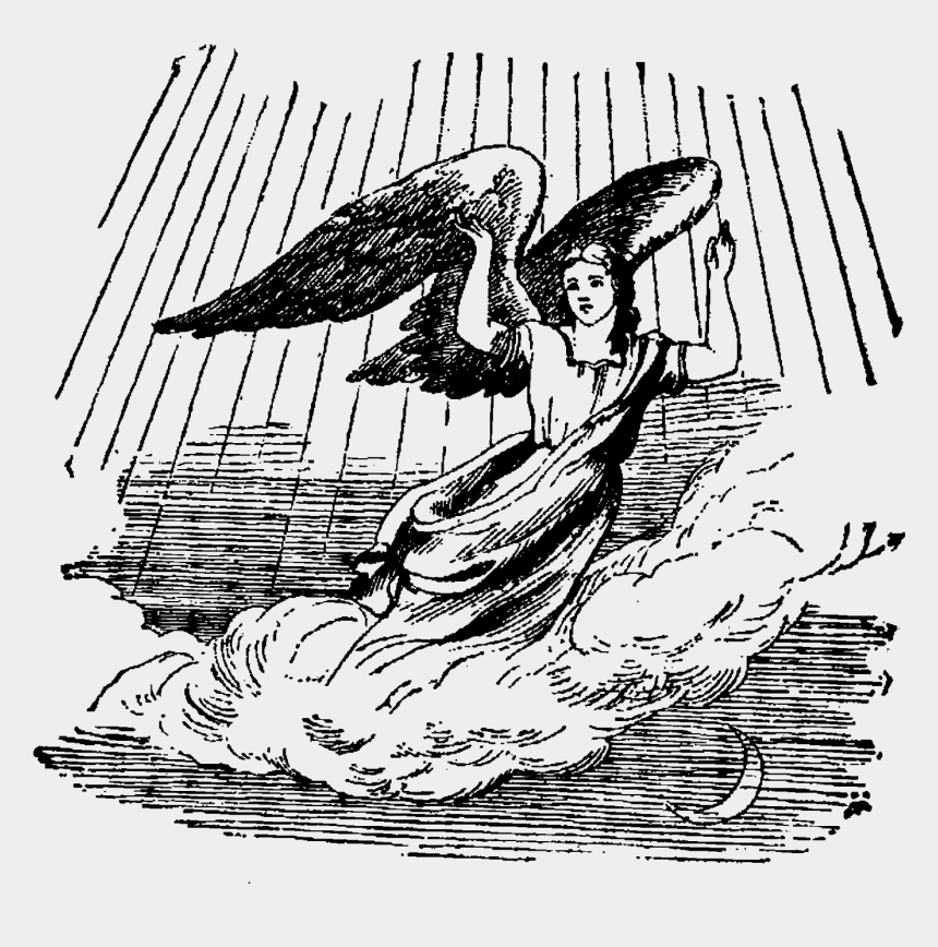 victorian angel clipart black and white, Cartoons - I Created This Digital Angel Image From A Victorian - Illustration