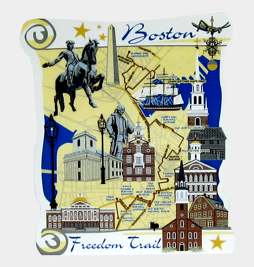 paul revere clipart, Cartoons - Freedom Trail Boston Map For Kids
