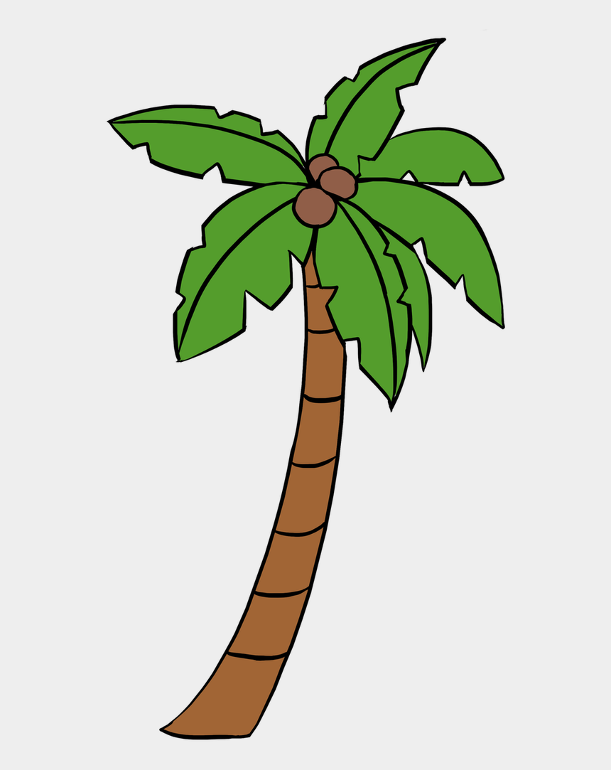 palmetto tree clipart, Cartoons - Palmtree Drawing Transparent Png Clipart Free Download - Easy Drawn Palm Tree